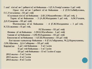 Қазақ тілі және әдебиеті пәні бойынша – 1 (Г.А.Темірғалиева- І деңгей) Орыс т
