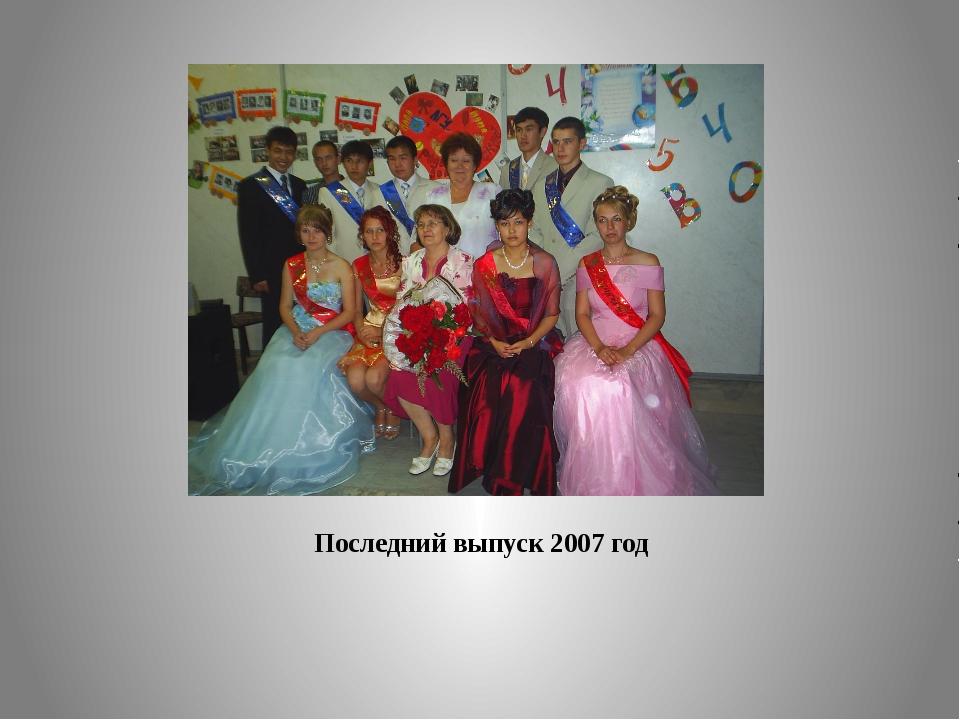 Последний выпуск 2007 год
