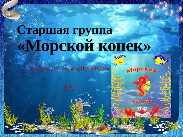 Старшая группа «Морской конек» МАДОУ Д/С №24 «ДЕЛЬФИН» 2015г.