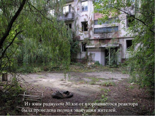 Из зоны радиусом 30 км от взорвавшегося реактора была проведена полная эваку...
