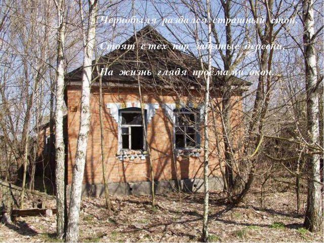 Остановилось всё и замерло внезапно, Чернобыля раздался страшный стон. Стоят...