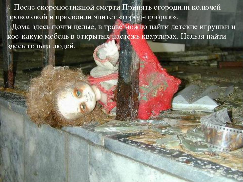 После скоропостижной смерти Припять огородили колючей проволокой и присвоили...