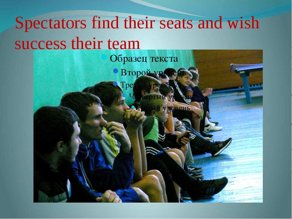 Spectators find their seats and wish success their team