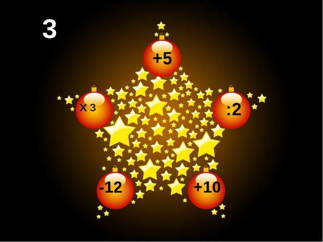 +5 :2 3 3 +10 -12 X 3