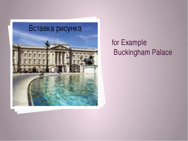 for Example Buckingham Palace