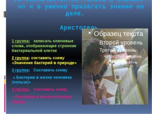 Ум заключается не только в знании, но и в умении прилагать знание на деле. Ар