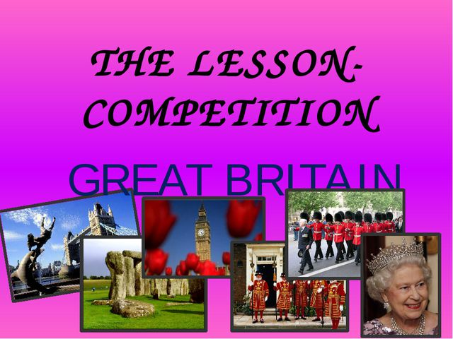 THE LESSON-COMPETITION GREAT BRITAIN