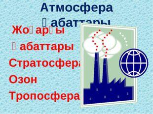 Атмосфера қабаттары Жоғарғы қабаттары Стратосфера Озон Тропосфера