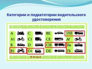 Категории и подкатегории водительского удостоверения 12.03.2010 Разработал: Т