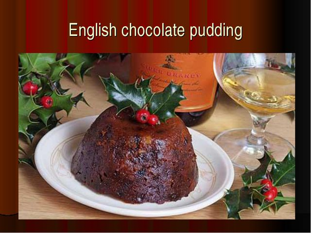 English chocolate pudding