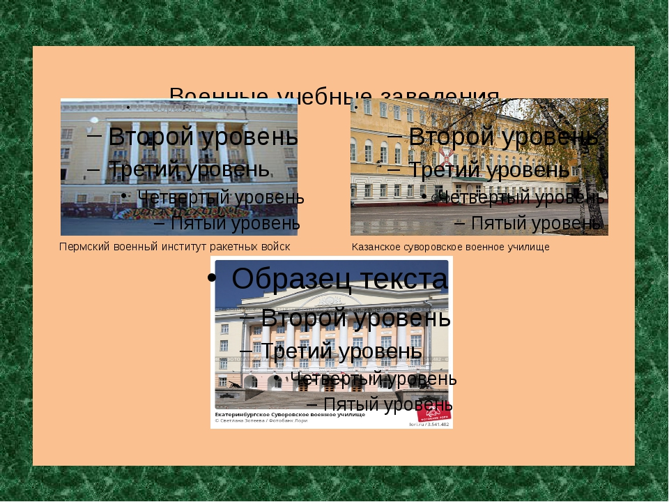 Военные учебные заведения Пермский военный институт ракетных войск Казанско...