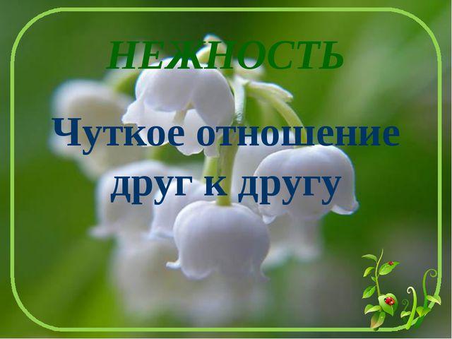НЕЖНОСТЬ Чуткое отношение друг к другу Лыкова И.В