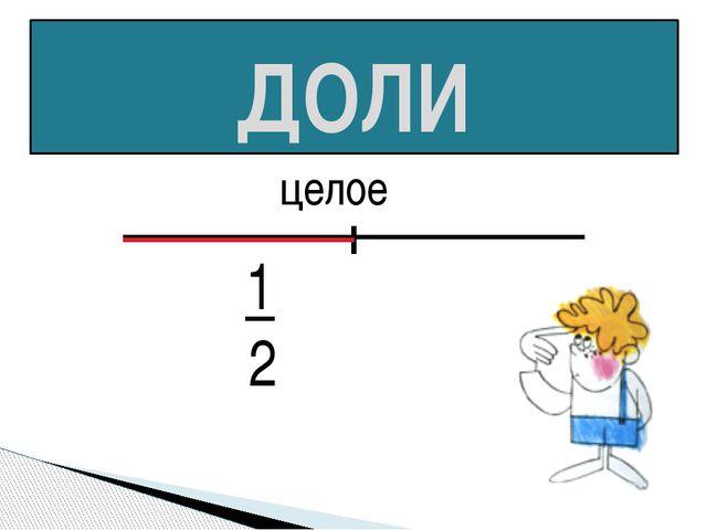 ДОЛИ целое 1 2