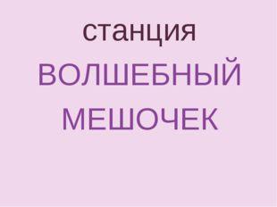 станция ВОЛШЕБНЫЙ МЕШОЧЕК