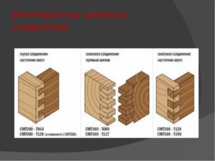 Многократные шиповые соединения