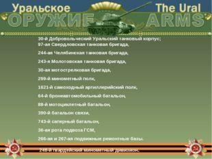 30-й Добровольческий Уральский танковый корпус; 97-ая Свердловская танковая б