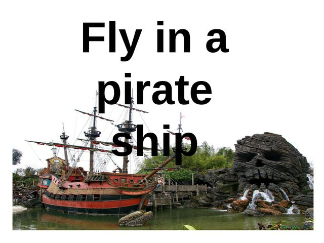 Fly in a pirate ship