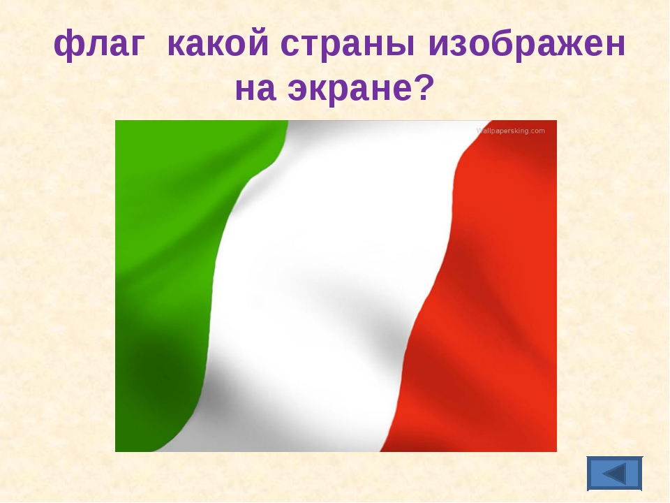 флаг какой страны изображен на экране?