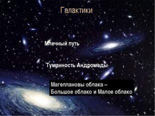 Галактики Млечный путь Туманность Андромеды Магеллановы облака – Большое обла