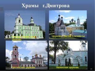 Храмы г.Дмитрова Троице-Тихвинская церковь Церковь Святой Елизаветы Сретенска