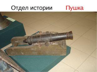 Отдел истории Пушка