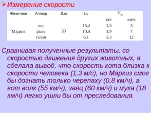 Измерение скорости Сравнивая полученные результаты, со скоростью движения дру