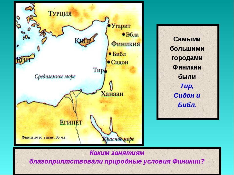Самыми большими городами Финикии были Тир, Сидон и Библ. Финикия во 2 тыс. д...