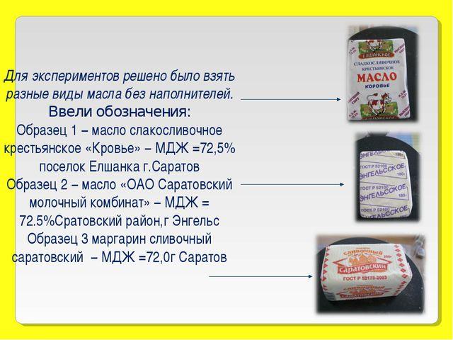 Для экспериментов решено было взять разные виды масла без наполнителей. Ввел...