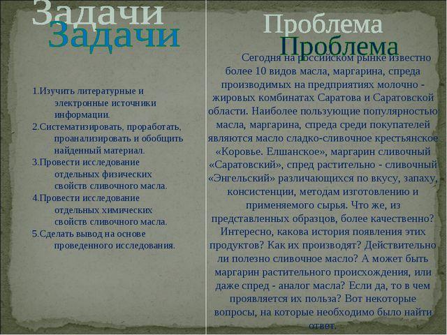 Сегодня на российском рынке известно более 10 видов масла, маргарина, спреда...