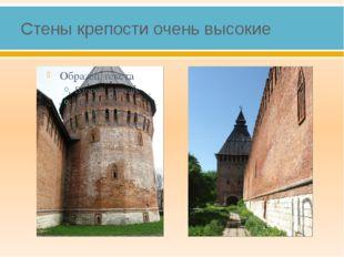 Стены крепости очень высокие