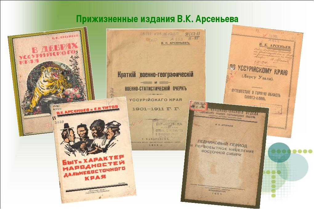 Прижизненные издания В.К. Арсеньева