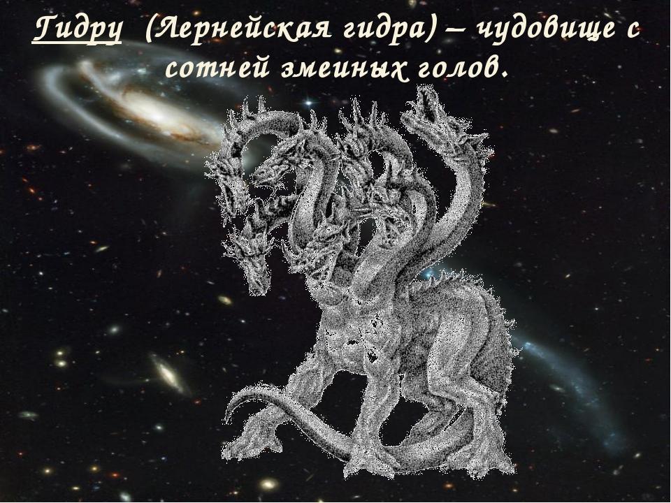 Гидру (Лернейская гидра) – чудовище с сотней змеиных голов.