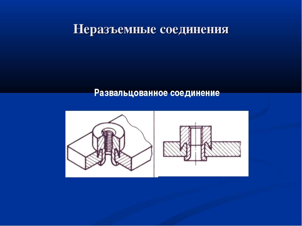 Неразъемные соединения Развальцованное соединение