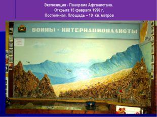 Экспозиция - Панорама Афганистана. Открыта 15 февраля 1990 г. Постоянная. Пло