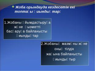 Жоба орындауда кездесетін екі топтағы қиындықтар: 2.Жобаның мазмұны және оның