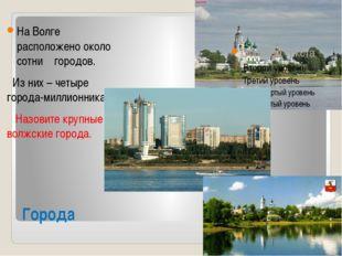 Города На Волге расположено около сотни городов. Из них – четыре города-милли