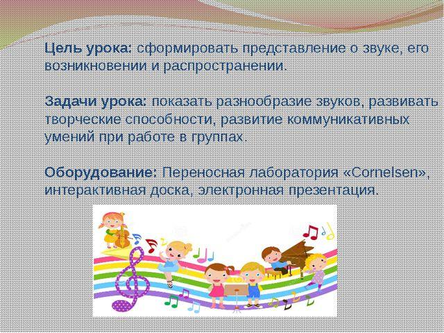 Цель урока: сформировать представление о звуке, его возникновении и распростр...