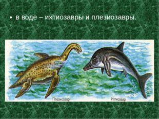 в воде – ихтиозавры и плезиозавры.