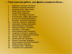 Новикова Антонина Ивановна Новиков Владимир Иванович Назаренко Петр Афанасье