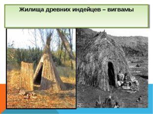 Жилища древних индейцев – вигвамы