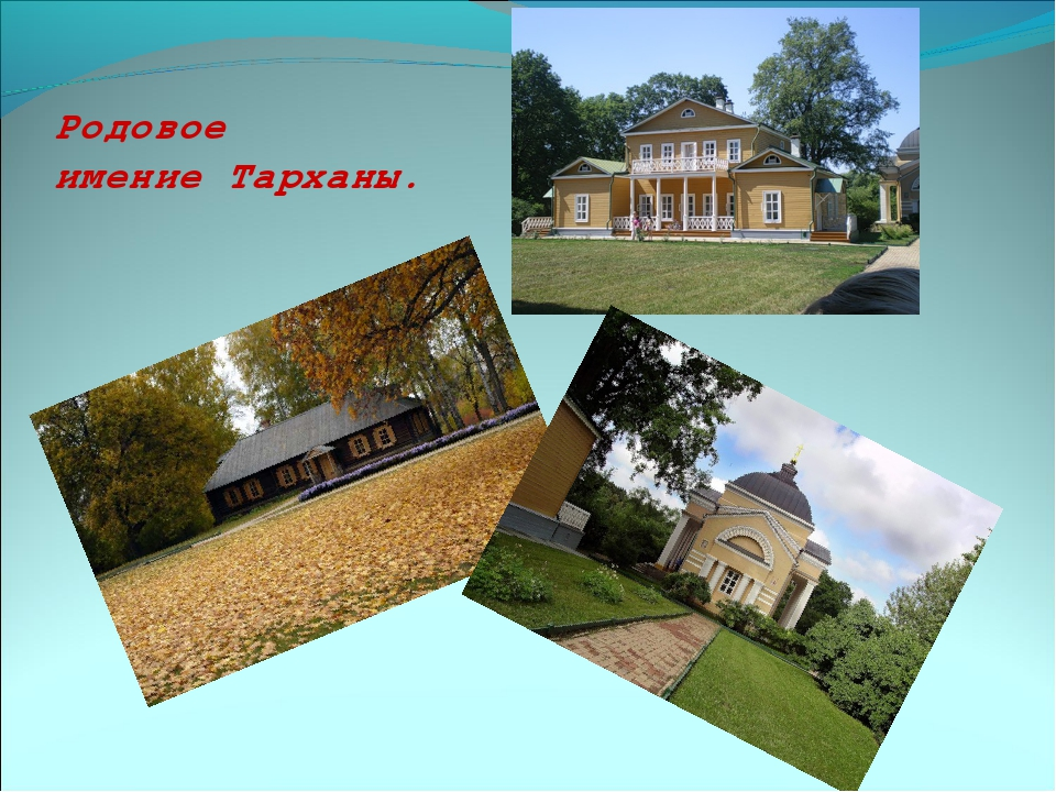 Родовое имение Тарханы.