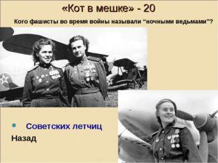 «Кот в мешке» - 20 Советских летчиц Назад Кого фашисты во время войны называ