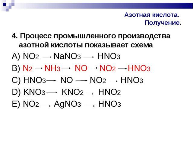 Азотная кислота. Получение. 4. Процесс промышленного производства азотной кис...