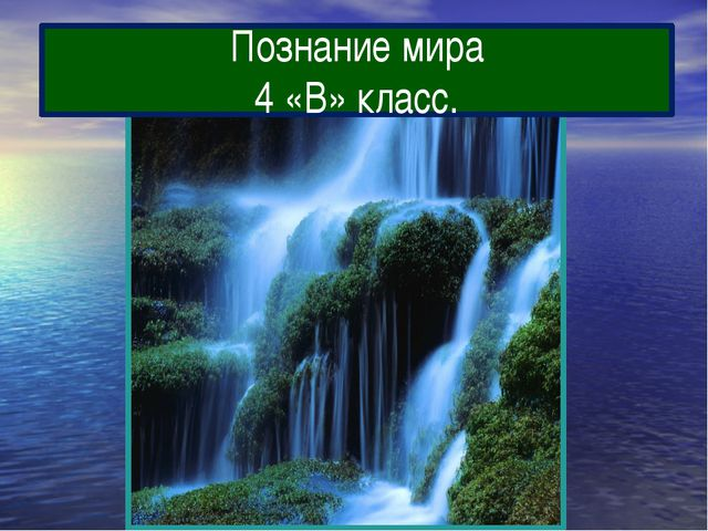 Познание мира 4 «В» класс.
