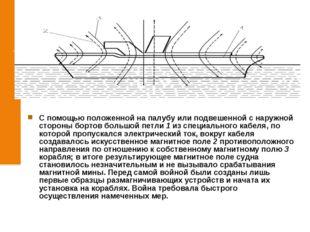 С помощью положенной на палубу или подвешенной с наружной стороны бортов бол