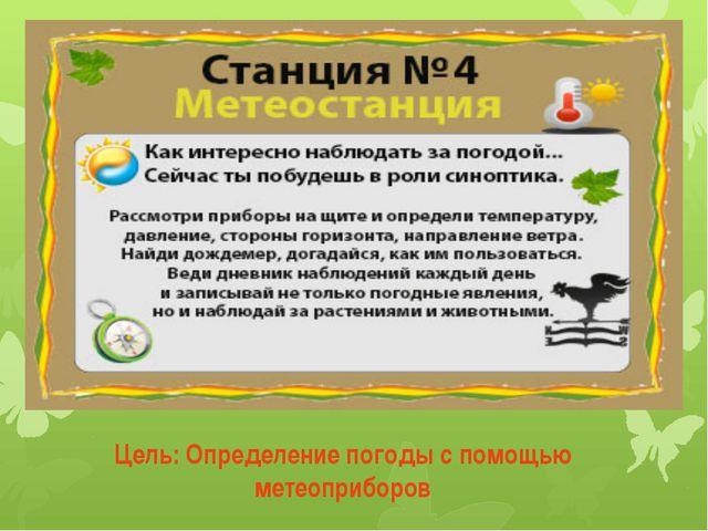 Цель: Определение погоды с помощью метеоприборов