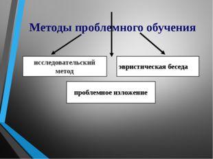Методы проблемного обучения исследовательский метод проблемное изложение эври