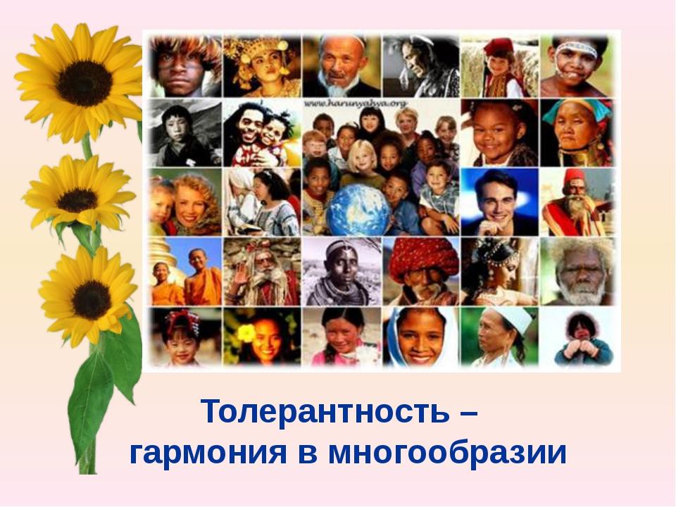 Толерантность – гармония в многообразии