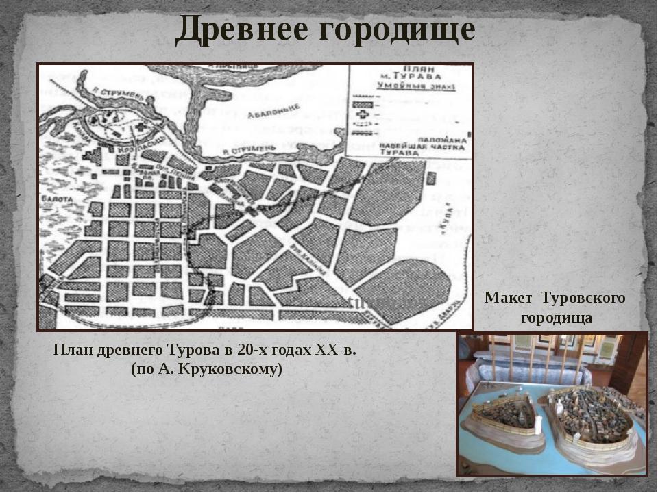 Древнее городище План древнего Турова в 20-х годах XX в. (по А. Круковскому)...