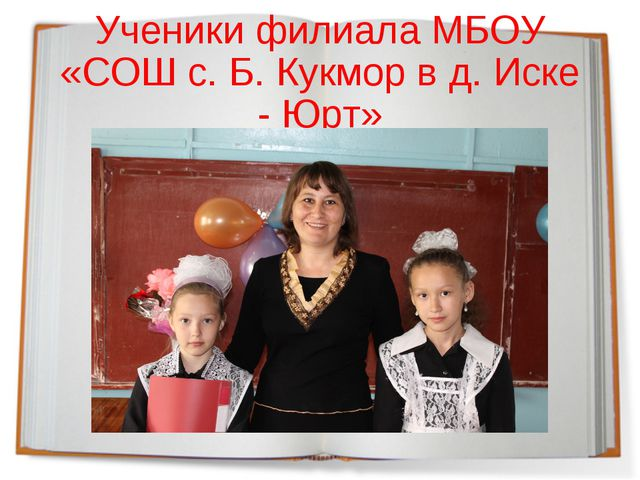 Ученики филиала МБОУ «СОШ с. Б. Кукмор в д. Иске - Юрт»
